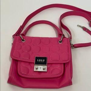 Lulu's hot pink mini crossbody / shoulder bag
